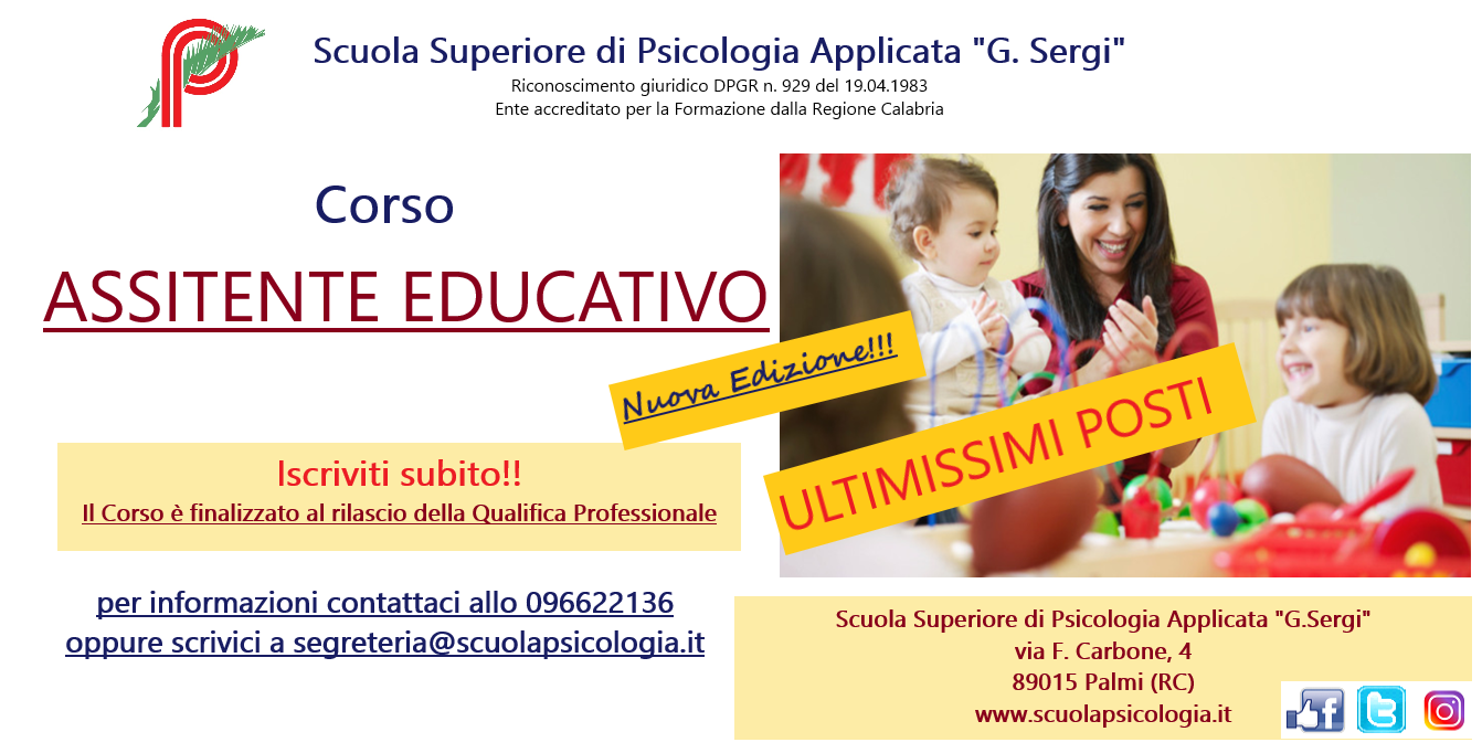 Corso Assistente educativo