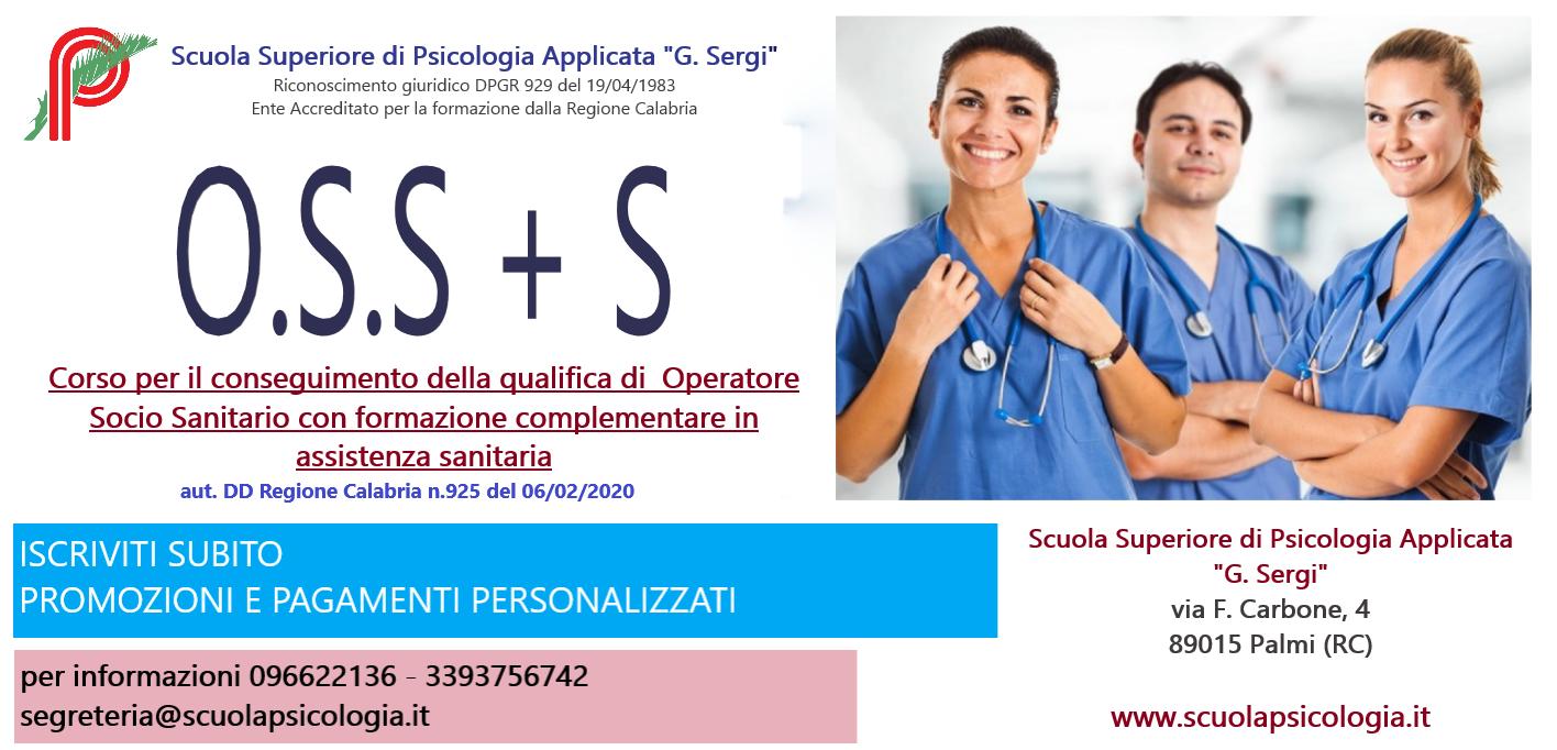 CORSO Operatore Socio- Sanitario con formazione complementare in assistenza sanitaria